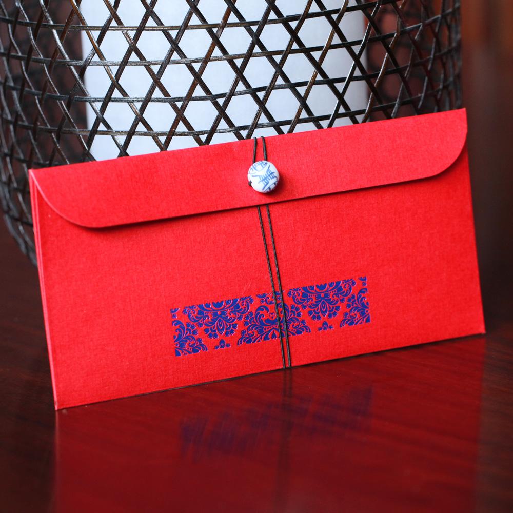 烟雨集 霞帔红包结婚创意红包结婚红包利是封大红包袋创意