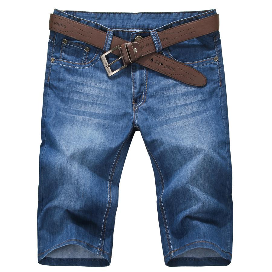 薄款男士牛仔裤