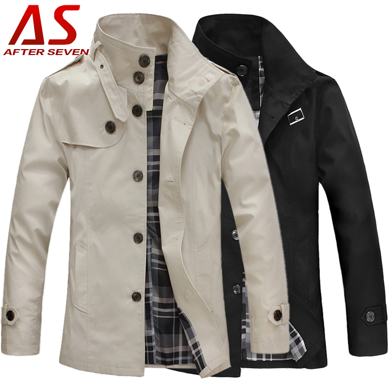 Afterseven England style slim men's Windbreakers wave of Korean leisure collar men's jackets men's jacket spring