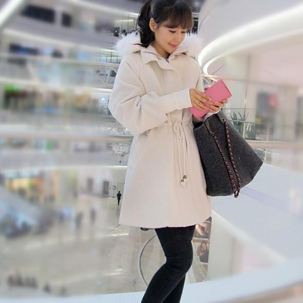 женское пальто Тонкий шнурок толстые шерстяные пальто 2013 корейской версии последние горячие зимние