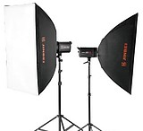 Clothing Kimbe 250W flash shooting table three light softbox photography light studio suit
