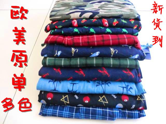 Пижамные штаны Два почты Европы и одной иностранной мужчин/Мужская хлопок Брюки пижамы дома плюс удобрения увеличивают Для молодых мужчин Хлопок Осень