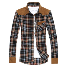 Men's popular plaid shirt