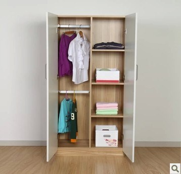 Cheap shipping Korean simple modern wardrobe double door wardrobe whole wardrobe can be customized