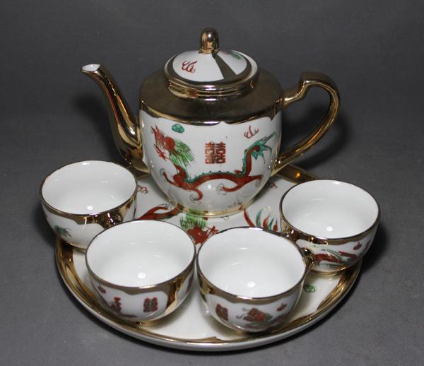 Старинный фарфор Цзиндэчжэнь керамики сумасшедших скидок только четыре алмаз бутик, Феникс Золотой 70-80 чай пакеты старый