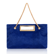 Snap up 2015 soft recreational double root luxury horsehair Single shoulder bag inside patch pocket zipper brand new single shoulder hand purification color
