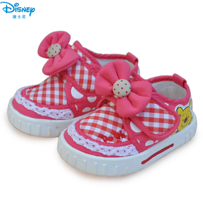 Genuine Disney children's shoes fashion shoes 2013 new baby girls shoes breathable all-cotton X3363