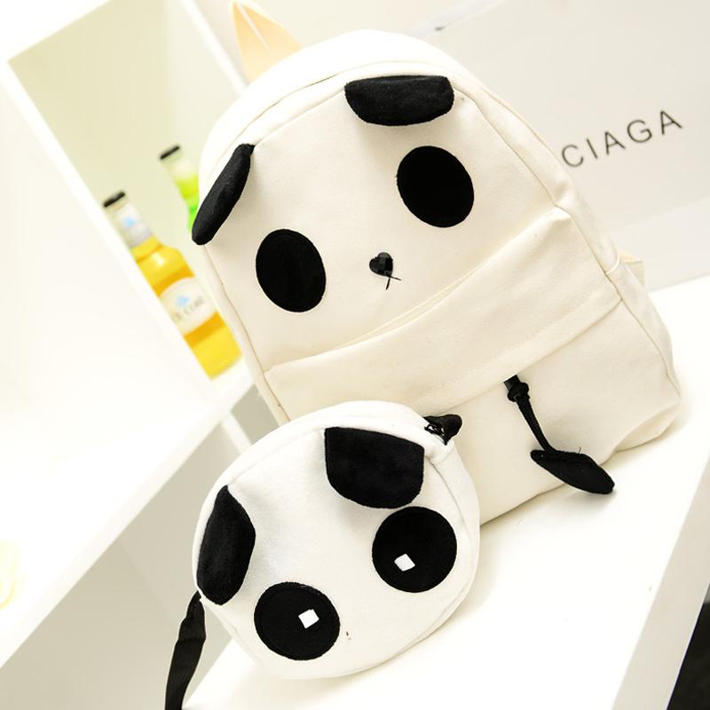 女包超萌背包囧包韓版初中學生書包帆布可愛憨厚熊貓雙肩包毛絨包