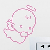 Fullhome LovePost romantic living room bedroom TV wall removable wall stickers decoration stickers cute rabbit-mail