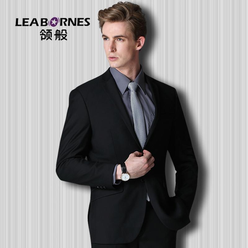 领般【商务】男士西服套装西装男修身冬韩版职业正装新郎结婚礼服