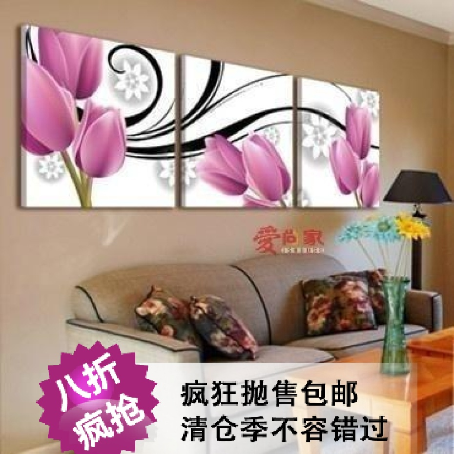 Lan in accordance with [By] genuine blue decorative painting frame painting murals paintings canteen restaurant kitchen wall clock triple fruit platter