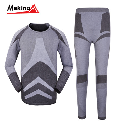 Makino / Ma Kai slave male thermal underwear elastic Toray fever movement suite