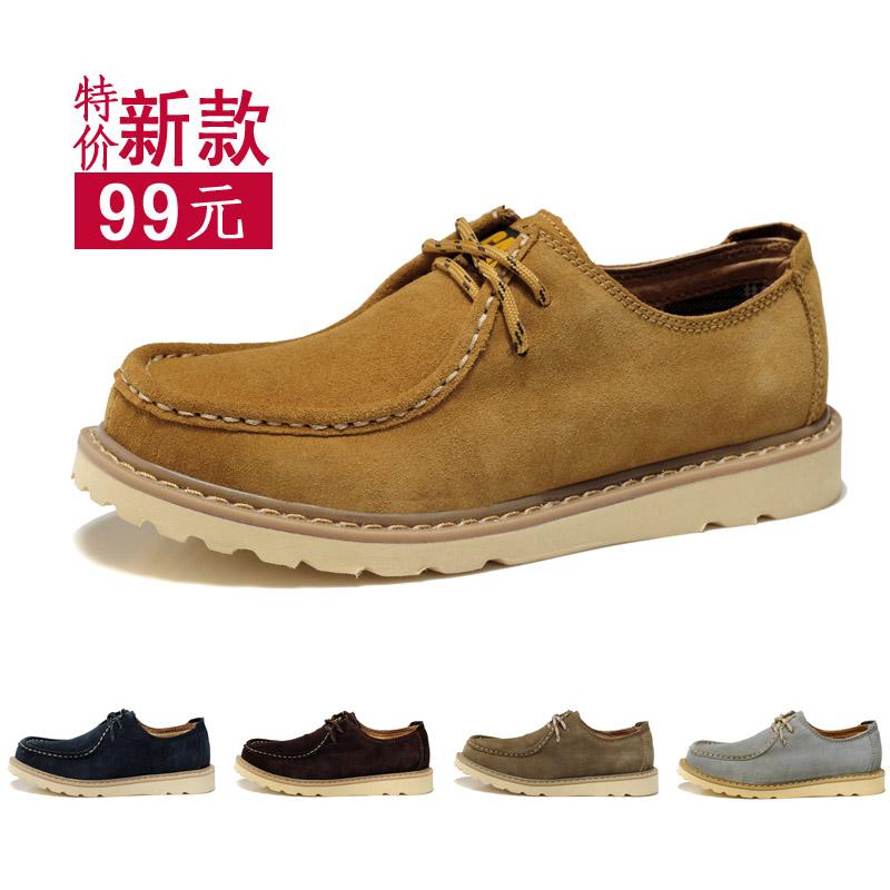 Демисезонные ботинки Catpt 9980 Для отдыха Верхний слой из натуральной кожи Круглый носок Шнурок Весна и осень
