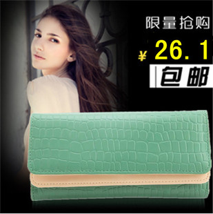 2013 new Korean purse Ladies doubles clamshell stones sharp 30 percent large zip around wallet ladies wallets wallet money clip