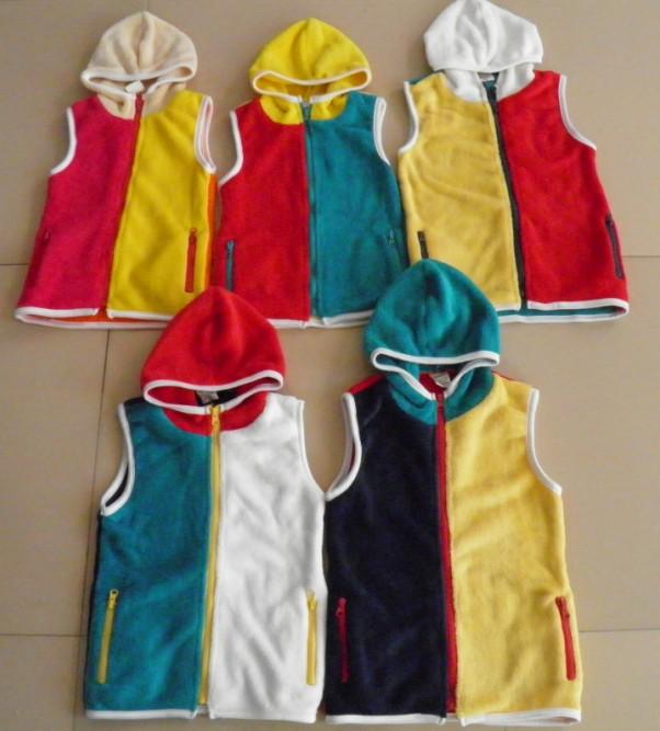 детский жакет Мальчиков и девочек осень/зима мягкий жилет жилеты коралловые флисовая куртка