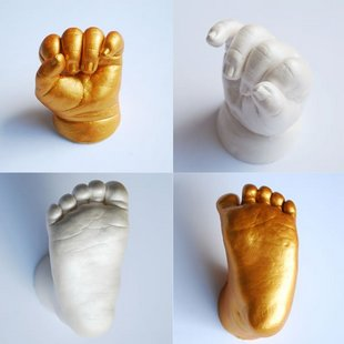 Hand ink baby hand and footprint baby stereo prints mud MAKROLON model of powder + fingerprint foot powder