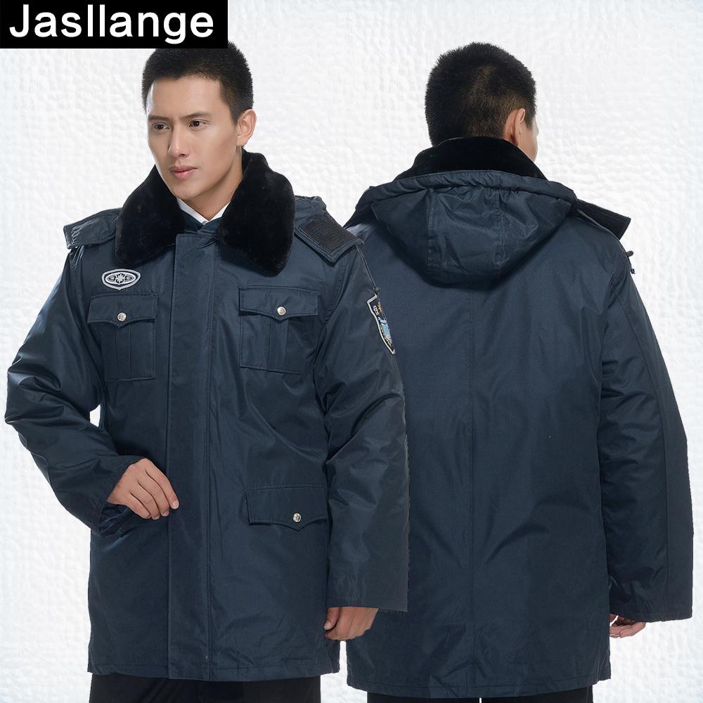 新款防寒服 保安大衣 执勤服保安服冬装制服工作服加厚棉服棉大衣图片