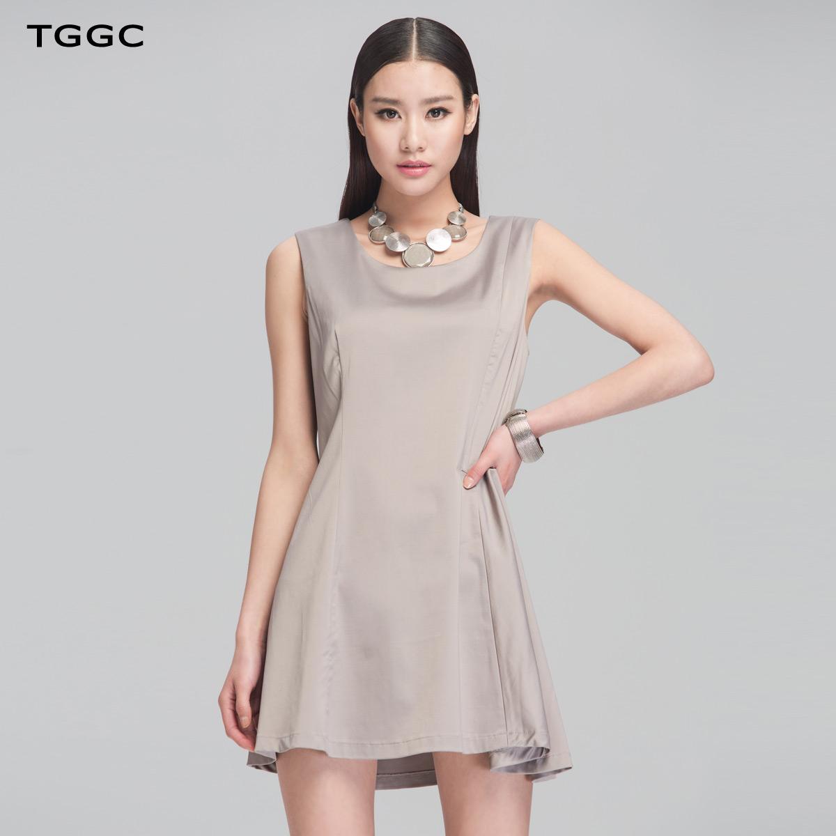 TGGC 2014春夏款女装 纯色显瘦背心裙 无袖打底连衣裙 ...