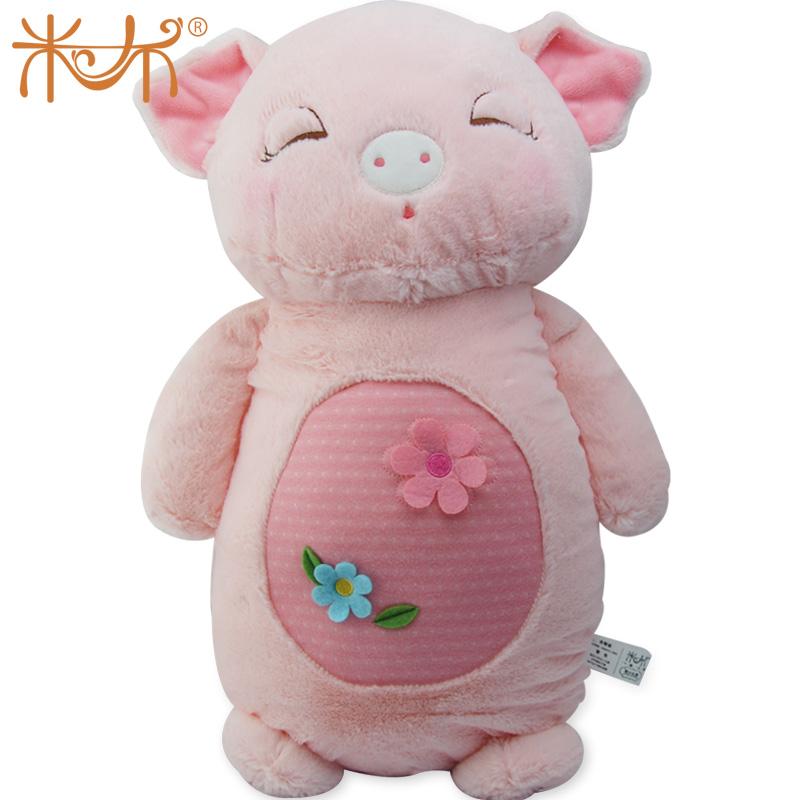 品牌木木猪公仔玩偶七夕情侣生日礼物毛绒玩具可爱娃娃