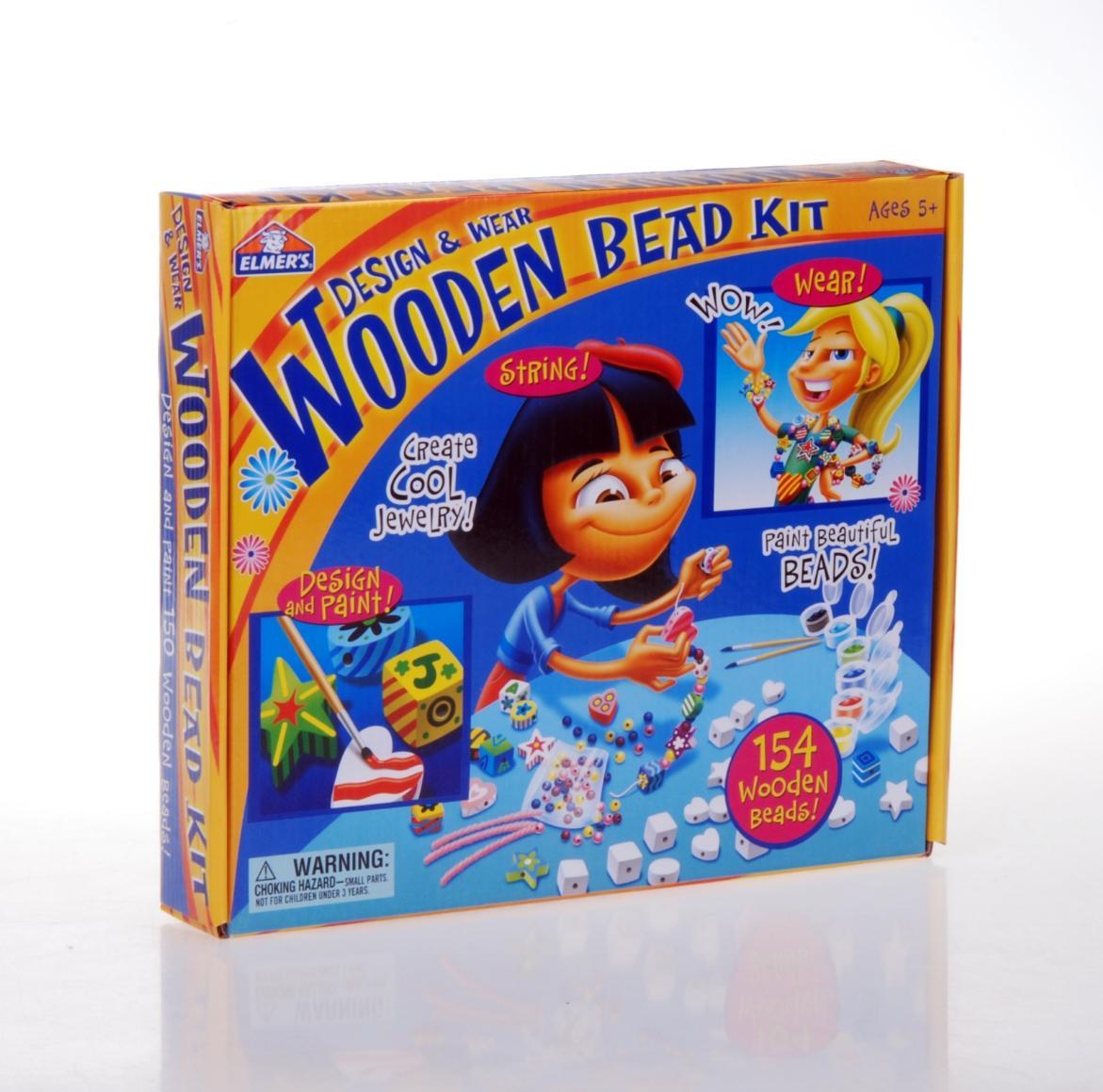 美国进口儿童益智穿线玩具-百变插珠 亲子互动DIY拼插玩具3岁以上