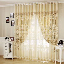 The sitting room of high-grade silk jacquard voile curtains bedroom balcony double blind curtain cloth special offer a clearance package of mail