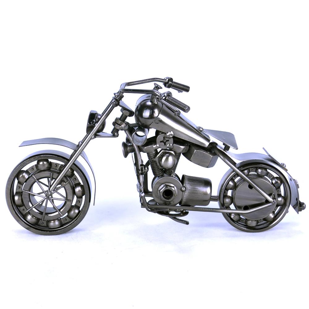 饰品仿真现代店铺工艺品 (420元)  4: 铁质彩色摩托车模型老式家居