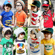 Specials 2013 Summer Korean version of the new children's Boys Girls baby vest short sleeve T-shirt tx-1799