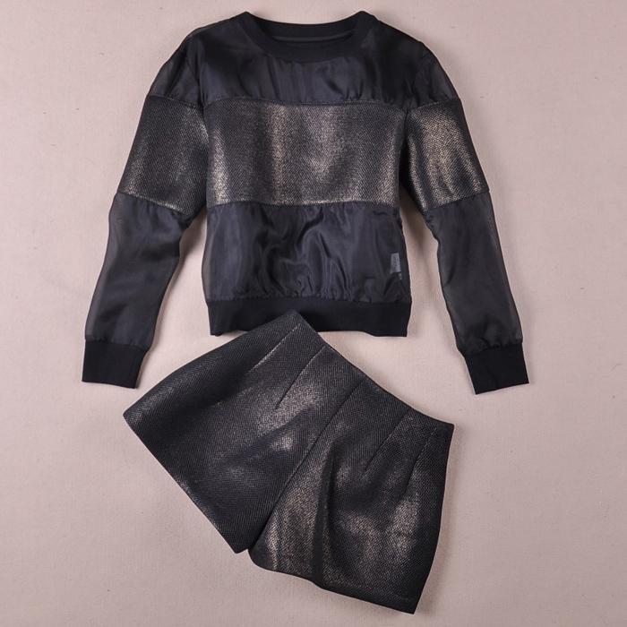 Одежда для отдыха Осень 2013 Новый Шелковый пригородных, горячий горячий топы шорты костюм шить два набора для девушки