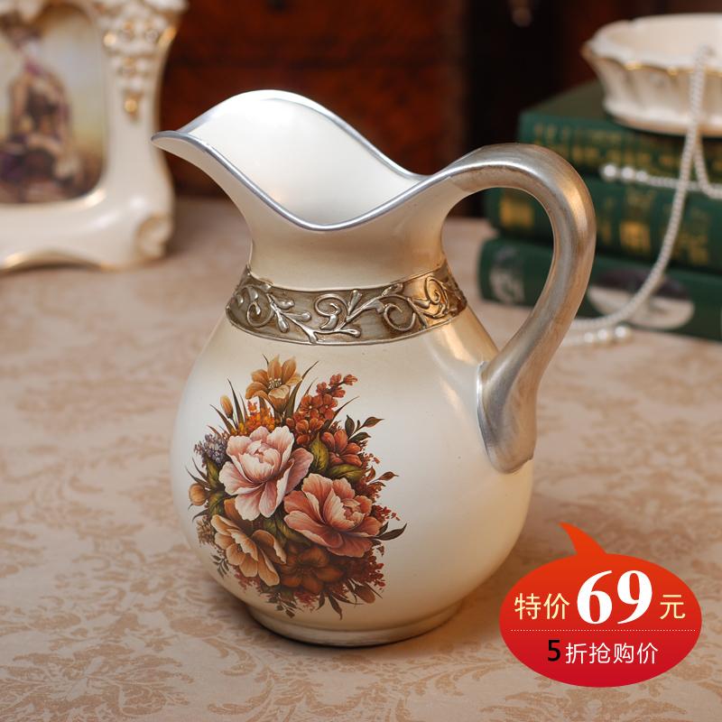 特价欧式田园陶瓷花瓶手绘花壶瓶 家饰摆件花瓶花器 家居装饰礼品