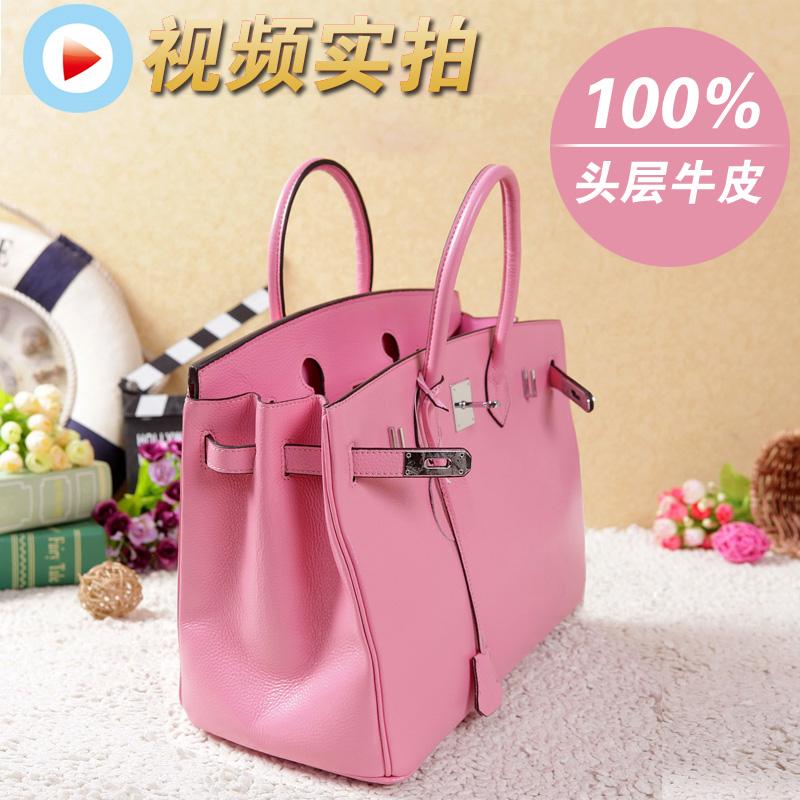 Сумка 2013 Новый корейский заголовка слой кожи birkin35/30 Платиновый пакет сушилка пу кожаный переносная сумка пакет почты Девушки Женская сумка Однотонный цвет Кожа быка