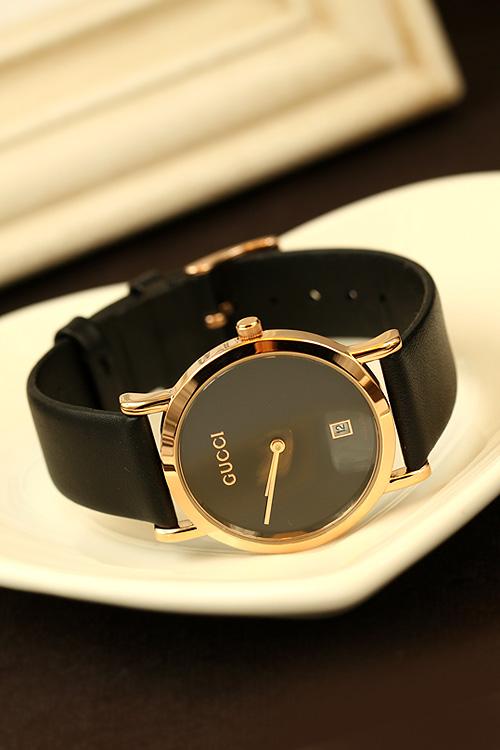 韩版皮带手表简约高档女表 时尚gucci古驰男表 情侣表图片