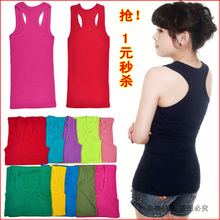 2013 spring Korean Cotton Vest female small halter top vest vest female backing per spike