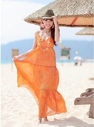 Beach dress suspender skirt