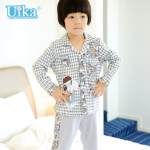 Uika the spring and autumn period and the model of cotton children's pyjamas The boy long suit The boy child household to take necessary air conditioning