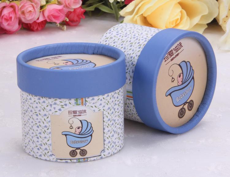 多彩喜事 欧式创意宝宝出生满月百日喜糖袋 珍爱宝贝圆筒喜糖盒