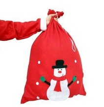 New Year's day festival oversized backpacks Santa Claus gift bag magic props candy bag red snowman ornament