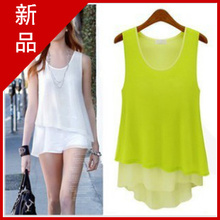 2013 summer new women's candy-colored wild was thin chiffon camisole loose primer shirt female
