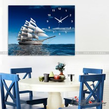 Hao Tong frameless painting Triple bedroom living room decorative painting frame painting murals children's room wall clock restaurant cartoon bell flower fairy