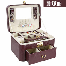 New Erli European princess jewelry box jewelry box jewelry boxes Korean Cosmetic necklace storage box