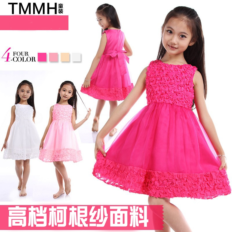 Fairy combination Boutique Korean version 2013 new big boy children summer princess skirt girls dress girls summer dresses