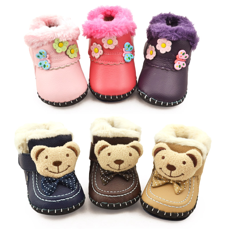New autumn and winter men and women leather baby shoes baby shoes toddler shoes soft bottom shoes baby shoes warm winter shoes