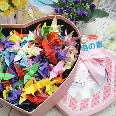 Free shippingLove finished origami gift box pink suit a variety of birthday gifts DIY manual optional