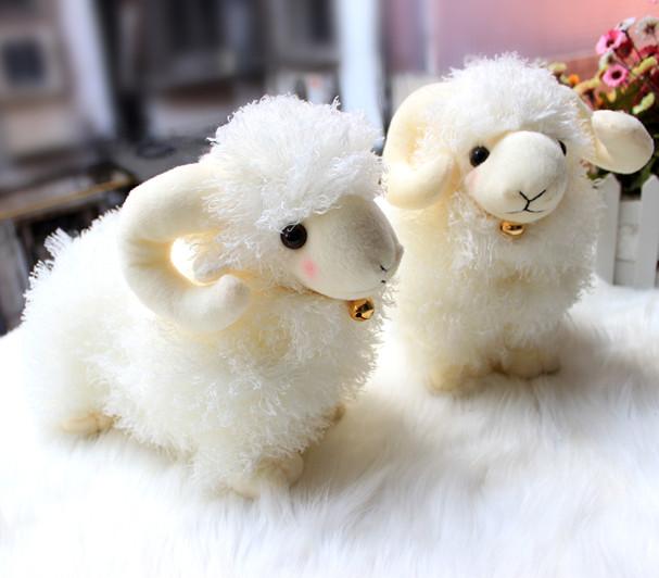促销仿真绵羊公仔站姿小羊毛绒玩具美洋洋布娃娃创意生日礼品