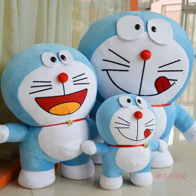 笔画机器猫绒毛大中/小号图片全集哆啦/公仔玩具可爱精品a梦玩具卡通简玩偶猫咪大娃娃图片