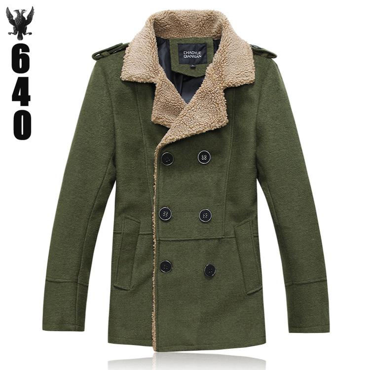 Пальто мужское Other Шерстяная ткань для пальто Отложной воротник