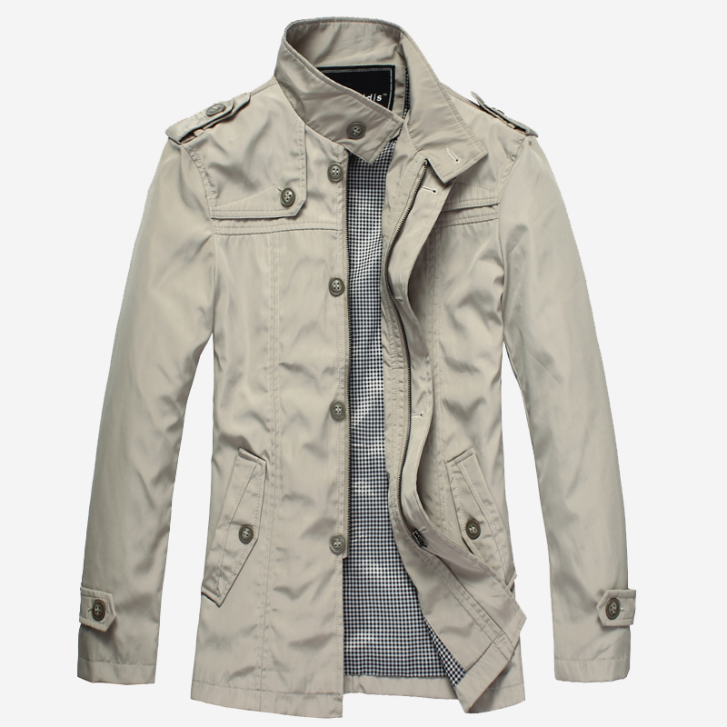 New trench coat men Mr.baidis spring windbreaker jacket men's fashion trench coat men's trench coat