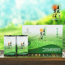 Rizhao bibo green tea tea 2015 fresh tea listed two barrels of handbags gift boxes Father's day gift