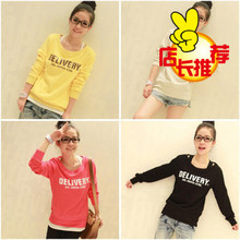 2013 new spring and summer women's casual fashion Korean female youth Delivery gorgeous Full Color Sweat