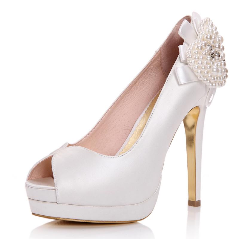 单鞋细跟浅口防水台花朵超高跟欧美鱼嘴水钻低帮鞋女鞋婚鞋