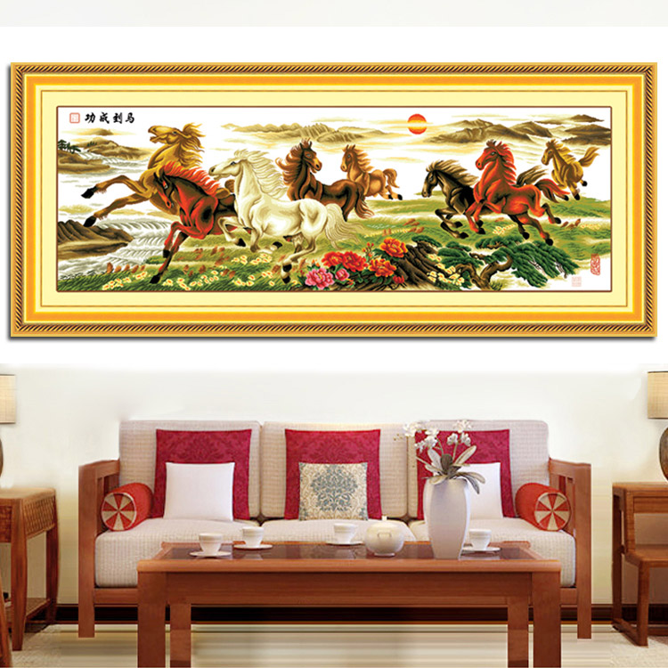 Precision printed cross stitch new living room eight Royal Ascot success stitch sharp 2.2-meter. 5 m series